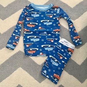 Baby Gap Snow Plow Christmas pajamas 3 years